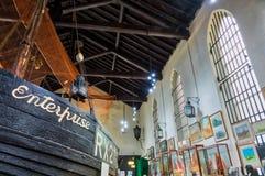 Fishermen's博物馆在海斯廷斯 免版税库存照片
