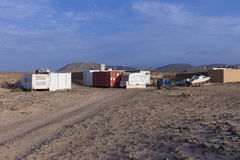 Fishermen's outpost in the a Canary island outback. Royalty Free Stock Image