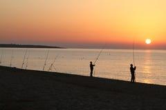 Fishermen. In the morning in Sardinia Stock Photography