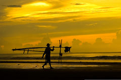 Fishermen. In Thinh Long, Nam Dinh, Vietnam royalty free stock photos