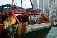 Fishermen, Aberdeen, Hongkong Royalty Free Stock Photography