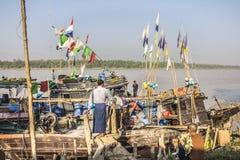Fishermen aboard Stock Photography