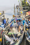 Fishermen aboard Stock Photography