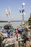 Fishermen aboard Stock Photo
