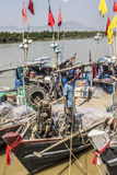 Fishermen aboard Stock Images