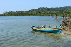 Fishermen of Andamans Stock Photography