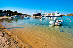 Fishermen bay Ormos Panagias in Sithonia, Greece Stock Image