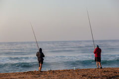 Fishermen Beach Holidays Royalty Free Stock Photography