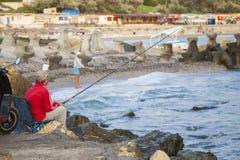 Fishermen on Black Sea Royalty Free Stock Images