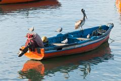 Fishermen boat Royalty Free Stock Photos