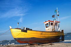 Fishermen boat Stock Images