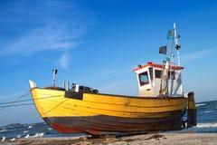 Fishermen boat Stock Images