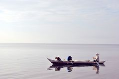 Fishermen on boat  Stock Photography