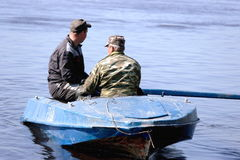 Fishermen on the boat Stock Photography