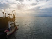 Fishermen boat on the sea. Royalty Free Stock Photos