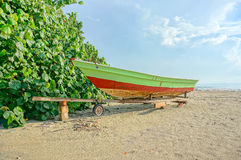 Fishermen boats at the beach Royalty Free Stock Images