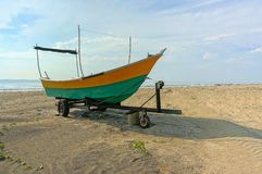 Fishermen boats at the beach Royalty Free Stock Photography