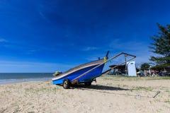 Fishermen boats on the cart Stock Photos