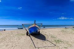 Fishermen boats on the cart Royalty Free Stock Photo