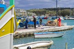 Fishermen boats gear Royalty Free Stock Photo