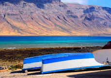 Fishermen boats; Graciosa island, Canaries royalty free stock photography