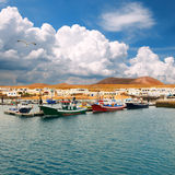 Fishermen Boats In La Graciosa Stock Photo