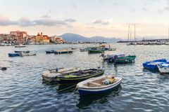 Fishermen boats in the port of Torre del Greco near Naples, Campania, Italy Royalty Free Stock Image
