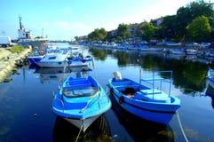 Fishermen boats,Sozopol port Royalty Free Stock Photography