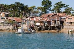 Fishermen cabins Royalty Free Stock Photos