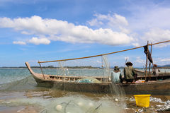 Fishermen is a career that has been popular in the seaside city Royalty Free Stock Photo