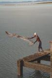 Fishermen casting fishing Stock Photos