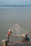 Fishermen casting fishing sea Stock Image