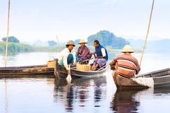 Fishermen catch fish Stock Images