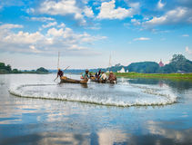 Fishermen catch fish Royalty Free Stock Photography
