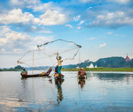 Fishermen catch fish Royalty Free Stock Photos