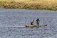 Fishermen Chobe National Park Royalty Free Stock Image