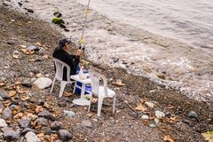 Fishermen Of Cinarcik Town. Of the country Turkey. Yalova city located in Marmara region of the country Turkey. Used to be a small town and hit by the great Royalty Free Stock Image
