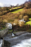 Fishermen Cottage. Beach Cottage at Comb Martin, Exmoor Stock Images