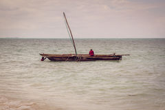 Fishermen on a dhow, Zanzibar Royalty Free Stock Photography