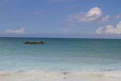 Fishermen on a dhow, Zanzibar Royalty Free Stock Images