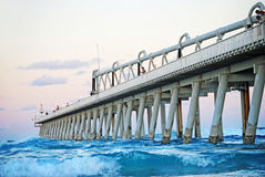 Fishermen fishing in the beautiful ocean of The Spit, Gold Coast, Australia Stock Images