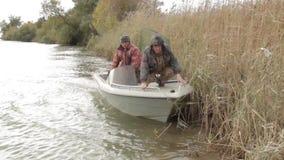 Fishermen on fishing stock footage