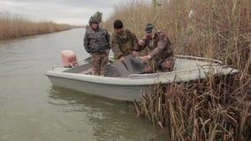 Fishermen on fishing stock video
