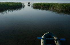 Free Fishermen Fishing In The Lake Stock Photography - 9079342
