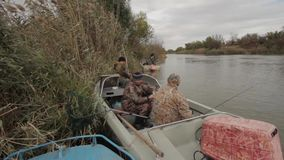 Fishermen on fishing stock video footage