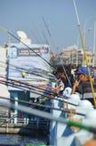 Fishermen on Galata bridge Royalty Free Stock Photography