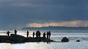 Fishermen, Garry Point, Steveston Dawn stock video