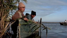 Fishermen stock footage