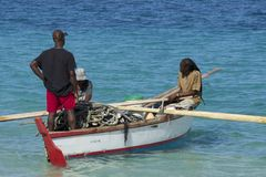 Fishermen in Grenada, Caribbean Royalty Free Stock Photography