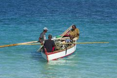 Fishermen in Grenada, Caribbean Royalty Free Stock Photography
